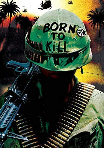 Generic Full Metal Jacket Film Foto Poster Stanley Kubrick Born to Kill Film 001 (A5-A4-A3) - A5