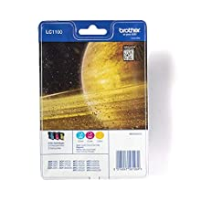 Brother LC-1100C/LC-1100M/LC-1100Y Inkjet Cartridges, Cyan/Magenta/Yellow, Multi-Pack, Standard Yield, Includes 3 x Inkjet Cartridges, Brother Genuine Supplies