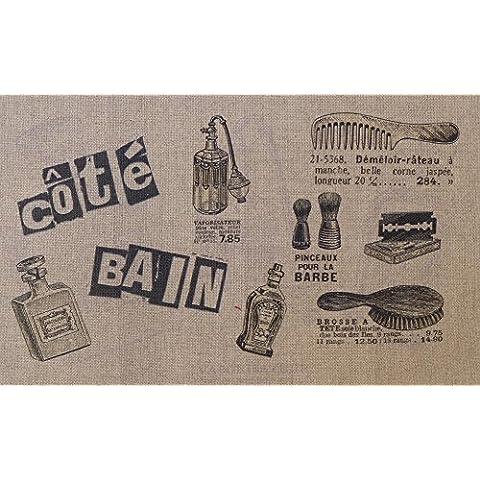 La Boîte à Broder COU047LN - Scampolo di tessuto stampato con dicitura in francese