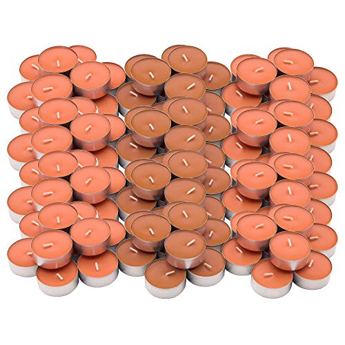 Ikea SINNLIG - Velas perfumadas (120 Unidades), Color Naranja y melocotón
