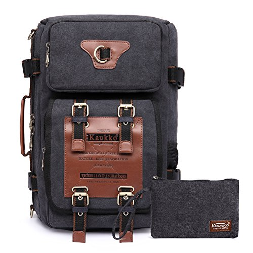 Rucksacke Herren Vintage Military Canvas Rucksäcke Retro Wanderrucksack Hiking Backpack Kaukko 3 Way Schulrucksack Multifunktionsrucksack ...
