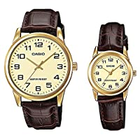 Casio Dress Watch For Unisex Analog Stainless Steel - MTP/LTP-V001GL-9BUDF