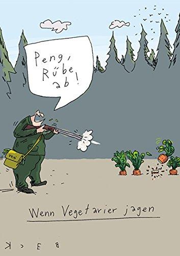 Postkarte A6 • 4947 ''Rübe ab'' von Inkognito • Künstler: Beck • Satire • Cartoons (Rüben-top)