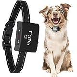 MASBRILL Klein Hund Rinde Kragen Verbesserte Version 100% wasserdicht wiederaufladbar Anti-Hundebellen-Halsband-Geräte Vibration Hundehalsband Einstellbar Nylon für kleine mittlere Hunde (Black)
