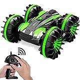 Wasserdichtes Ferngesteuertes Auto Boot - 2,4 Ghz All Terrain RC Cars - 1/18 Maßstab doppelseitig Stunt-Fahrzeug mit 360 Grad Drehungen und Flips