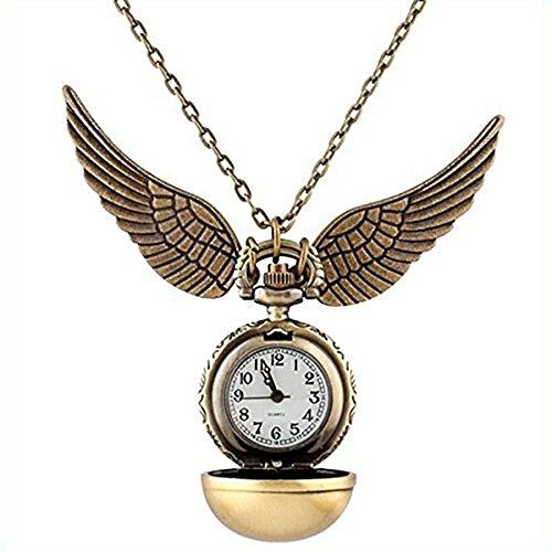 Colgante Reloj Quidditch Snitch Dorada Regalo Harry Potter