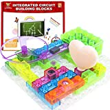 KeNeer Snap Circuits Building Blocks, Electronics Blocks Kit Simple Circuit Toys for Kids&Children Present (59 Projects/19 Pcs)