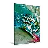 Calvendo Premium Textil-Leinwand 50 cm x 75 cm hoch, Farben - Wasser - Spiel | Wandbild, Bild auf Keilrahmen, Fertigbild auf Echter Leinwand, Leinwanddruck: Alles fließt Kunst Kunst