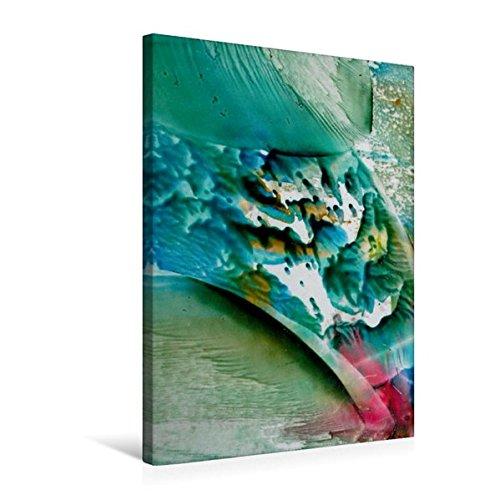 Premium Textil-Leinwand 50 cm x 75 cm hoch, Farben - Wasser - Spiel | Wandbild, Bild auf Keilrahmen,...