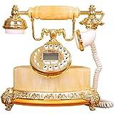 Retro telefon High-End-atmosphärisches antikes Telefon, Luxus Natürliche Huang Yun Jade Stein Europäischen Stil Klassische Mode Kreative Büro Festnetz WYQLZ