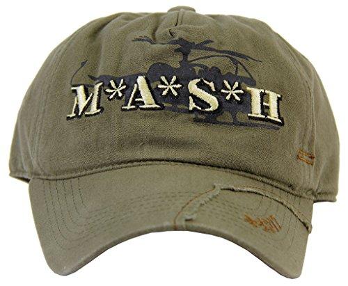 Produktbild MASH Medi-Vac Logo Olive grün Adjustable Kappe Hut