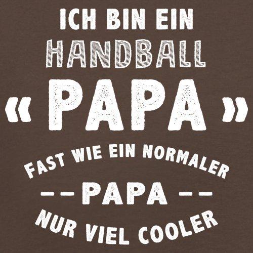 Ich bin ein Handball Papa - Herren T-Shirt - 13 Farben Schokobraun