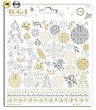 Toga Bombay Or et Argent Stickers Noël, taille unique