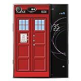 Stuff4 Gel TPU Hülle / Case für Sony Xperia XZ1 Compact / Rot Muster / Tardis Telefonzelle Kunst Kollektion