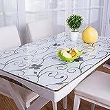 PVC-Kunststoff Transparent Matt Weichem Glas Kristall Platte Tischset Tischauflage Transparent Tischdecke Tischset Tischset (Muster : 14, Größe : 70x140cm(28x55inch))