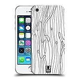 Head Case Designs Seegräser Schwarz-Weiss Muster Doodle Soft Gel Hülle für Apple iPhone 5 / 5s / SE