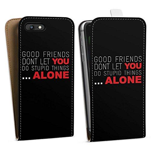 Apple iPhone X Silikon Hülle Case Schutzhülle Freunde Freundschaft Statement Downflip Tasche weiß
