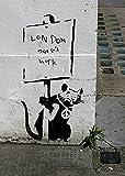 imagenation Banksy-rata Londres-60cm x 80cm impresión en láminas autoadhesivas papel Póster