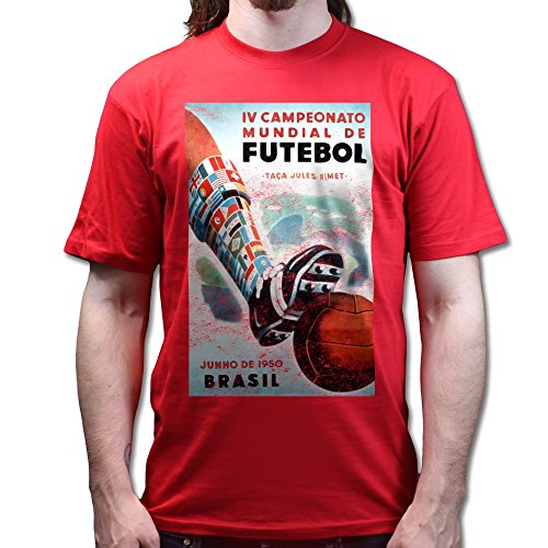 1950 Brazil Football World Cup Retro Poster T-shirt Jungle Green