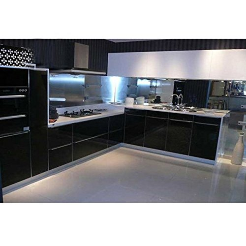 Bluelover 500X30Cm Impermeabile Cucina Armadi Guardaroba Adesivi Rinnovato Nero Autoadesivo Autoadesivo