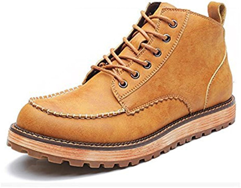 Koyi Männer Neue Trend Martin Stiefel Mode Wilden Casual Leder Stiefel Sehnen Unten weissh und Bequem Rutschfeste