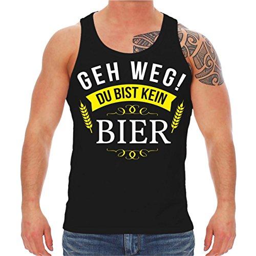 Spaß kostet Männer und Herren Trägershirt Männertag Geh Weg Du Bist Kein Bier (mit Rückendruck) Größe S - - Tank-tops Bier Männer Für