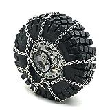 Zuolan Metall Reifenkette Schneekette Rutschfeste für Traxxas TRX4 1.9' 114mm Reifen 1/10 RC Crawler Auto (2 Stücke)