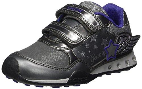 Geox Mädchen JR New Jocker Girl A Sneaker, Grau (Dk Silver), 38 EU - Geox Jocker Girl