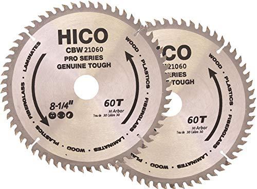 Preisvergleich Produktbild 2er-Pack HICO Sägeblatt für Kreissägen 210mm 60 Zähne Wechselzahn Hartmetall