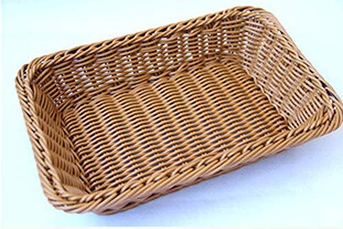 XIAYJ DIY Ablagekörbe Rattan Handarbeit Korb Brotkorb Lebensmittel obstkorb für küche und Wohnzimmer esszimmer, Beige,XL