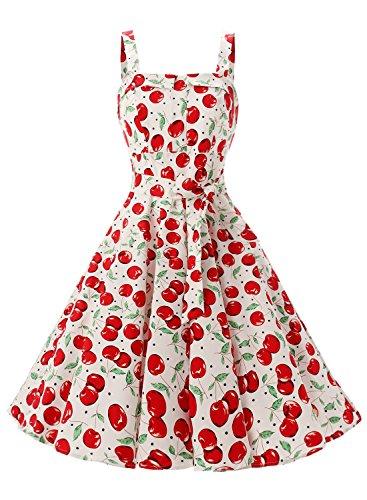 Rockabilly Vintage 50er Jahre Polka Dots Kleid knielang mit Faltenrock - 2