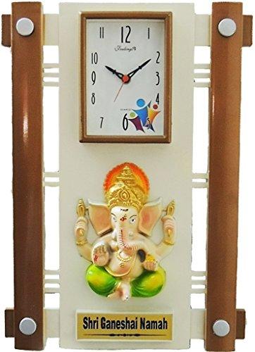 Feelings Silkina Ganesh wall Clock with glass