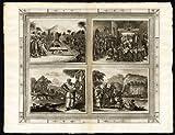 ThePrintsCollector Rare Motif Antique-Congo-Kongo-King-Déguisement-ambassadeurs Van Der 1725–Aa