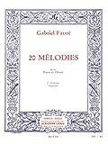 60 Mélodies en 3 Volumes, Volume 1 : 20 Mélodies
