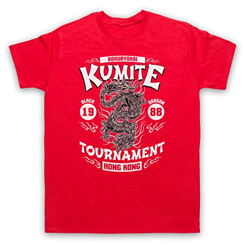 Bloodsport Kumite 1988 Black Dragon Tournament Herren T-Shirt Rot
