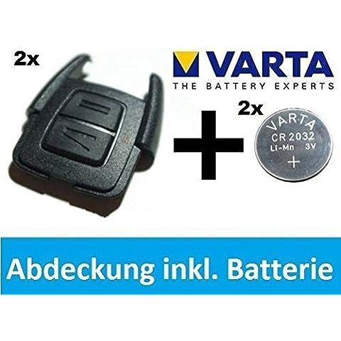 TWIN PACK Original OPEL Astra G / Zafira A Llave Cubrir Vivienda + VARTA CR2032 BateríA