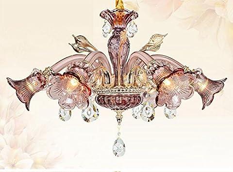 Lustre en verre en cristal français romantique d: cm *