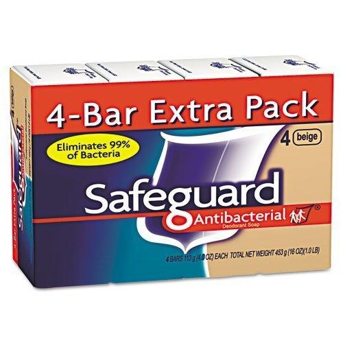 safeguard-antibacterial-bath-bar-soap-beige-4-oz-bar-includes-12-packs-of-four-four-oz-bars-48-bars-