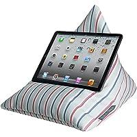 Per iPad, Tablet, eReader, Cuscino per supporto, morbida al tatto, velluto, (una gamma di bambini e adulti Disegni)–Progettato, Stampato & Handmade nel Regno Unito Brighton Beach Stripe