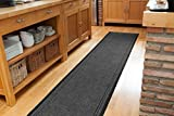 Concorde Durable made to measure Grey Non Slip Hall Runner - SOLD BY THE FOOT - QUANTITY 1 = 1 FOOT