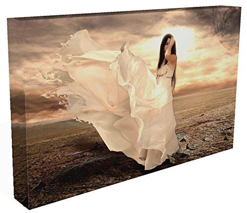 Contemporary Print Kleid (FANTASY: Engel IN Floaty Kleid Canvas35 Leinwanddruck, aufhängfertig, auf Ihrer Wand 76.20 cm x 50.80 cm mit einem Dartmoor Prints and Gifts Schlüsselanhänger)