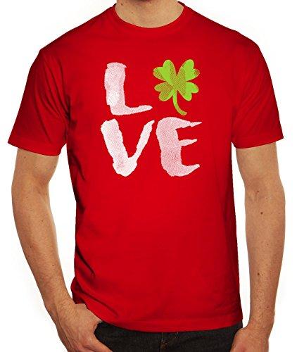 Saint Patrick´s Day St. Patricks Day Herren T-Shirt Love St. Patricks Day Rot