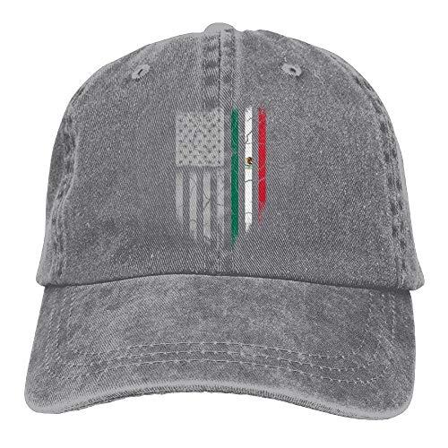 c9d73cda8b400e Fashion Baseball Caps Hats Mexican American Flag Denim Hat Adjustable Men's  Classic Baseball Cap
