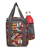 Rozen Nylon 4 Ltr Waterproof Lunch Bag (Red)