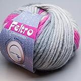 Lana Grossa Feltro 366 – ovillo de lana de fieltro (50 g)