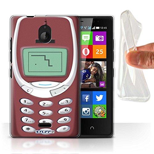 Stuff4® Gel TPU Hülle/Hülle für Nokia X2 Dual SIM/Rotes Nokia 3310 Muster/Vintage Handys Kollektion