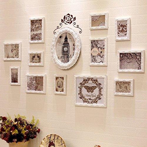 Rahmenwand 12 - 16 Stück / Satz. Europäischen Massivholzrahmen Wand Schlafzimmer Wohnzimmer Sofa Hintergrund Foto Wand Dreidimensionale Geschnitzte Foto Wand ( Farbe : 1# )