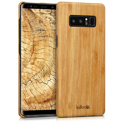 kalibri-Holz-Case-Hlle-fr-Samsung-Galaxy-Note-8-Handy-Cover-Schutzhlle-aus-Echt-Holz-und-Kunststoff-Mix-Bambusholz-in-Hellbraun