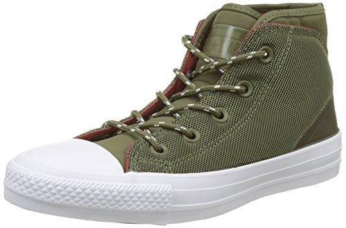 Converse Unisex-Erwachsene 157525C Hohe Sneaker, Grün (Medium Olive/Terra Red), 36 EU (Top Medium-high)