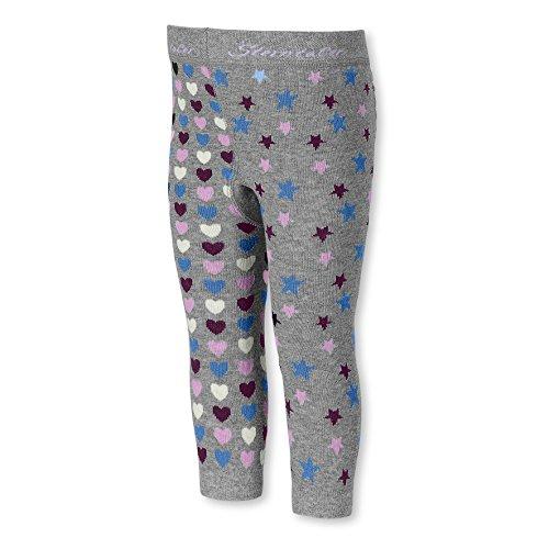 Sterntaler Baby-Mädchen Legging Leggins Sterne / Herzen, Grau (Silber Melange 542), 116
